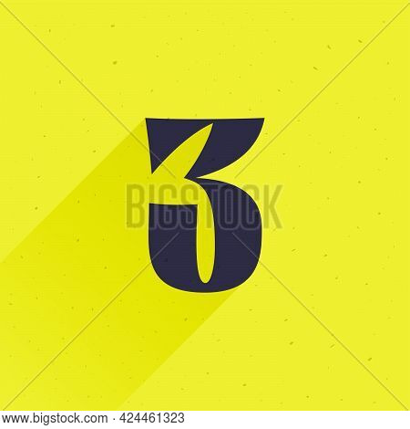 Number Three Logo For Your Fun And Happy Design Projects. You'll Get A Playful Sign For Fun Advertis