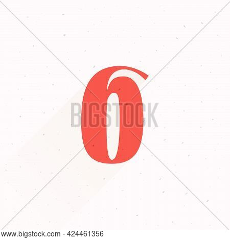Number Six Logo For Your Fun And Happy Design Projects. You'll Get A Playful Sign For Fun Advertisin