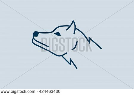 Vector Modern Logo Of A Majestic Wolf.
