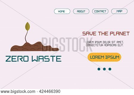 Template, A Landing Page Layout With An Illustration Of The Concept Of Sustainable Development Or En