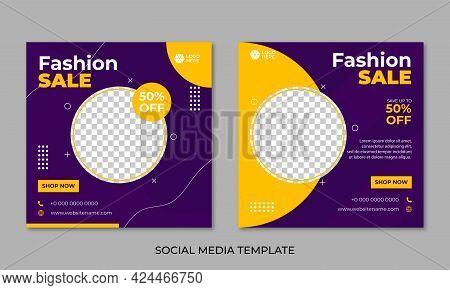 Sale Social Media Post Design Template Premium Vector