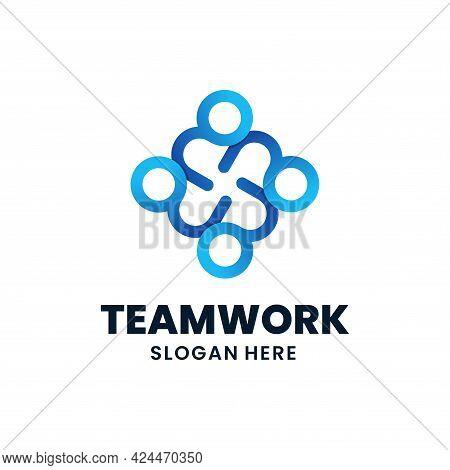 Teamwork Logo Template Design. Creative Social People Logo, Connection, Partnership, Unity, Etc.