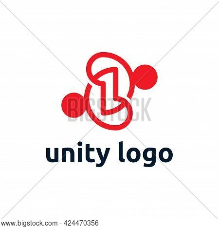 Unity Logo Template Design. Creative Social People Logo, Partnership, Team, Etc.