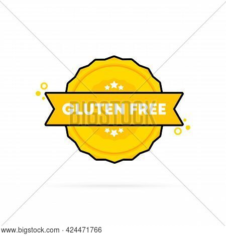 Gluten Free Stamp. Vector. Gluten Free Badge Icon. Certified Badge Logo. Stamp Template. Label, Stic