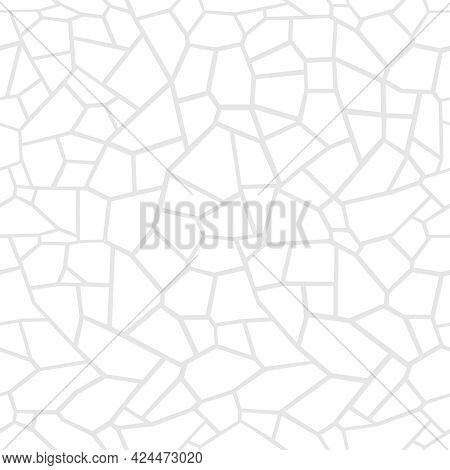 Stone Seamless Texture. Stone Overlay Texture. Mosaic Tracery Texture. Design Background. Vector Ill