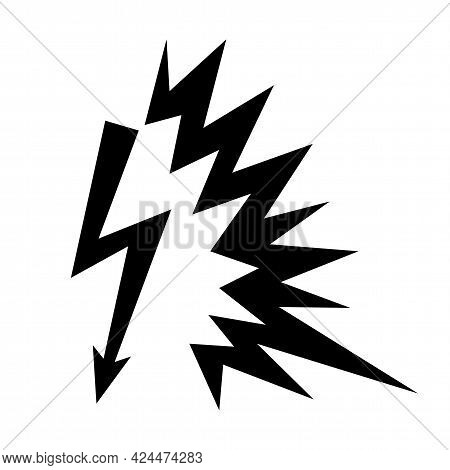 Caution Sign Arc Flash Symbol On White Background