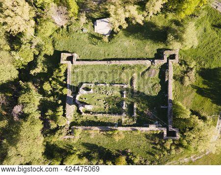 Aerial View Of Elenska Basilica - Ruins Of Early Byzantine Christian Church Near Town Of Pirdop, Sof