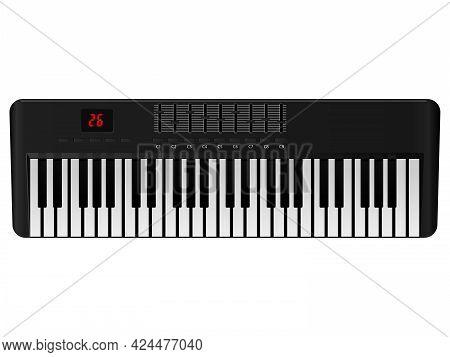 Piano Icon. Flat Illustration Of Piano Vector Icon For Web, Illustration