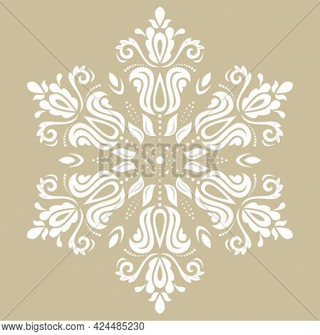 Oriental Vector Pattern With Arabesques And Floral Elements. Traditional Classic Ornament. Vintage R