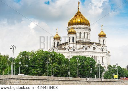 Moscow, Russia, June 1, 2021. The Cathedral Of Christ The Savior. The Cathedral Of The Russian Ortho