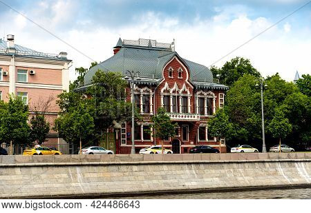 Moscow, Russia, June 1, 2021. The House Of The Philanthropist And Collector Ivan Tsvetkov On The Pre