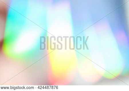 Holograph Foil Background. Pastel Color Paper. Retro Trend Design. Vintage Fantasy Cover. Chrome Hol