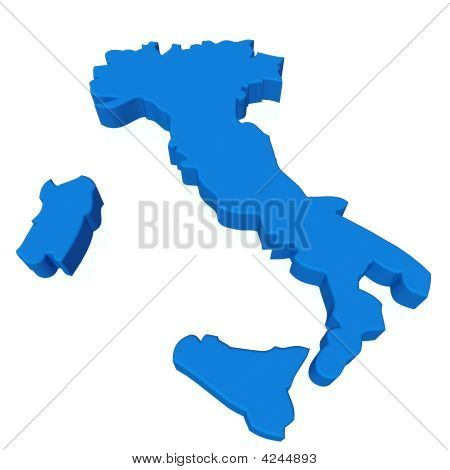 3D Italy Map