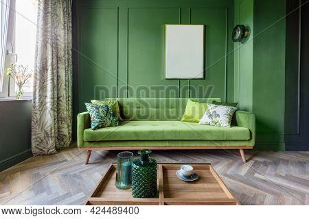 Living room in a small elegant apartment. Interior design