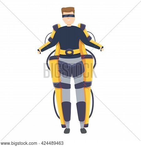 Required Exoskeleton Icon. Cartoon Of Required Exoskeleton Vector Icon For Web Design Isolated On Wh