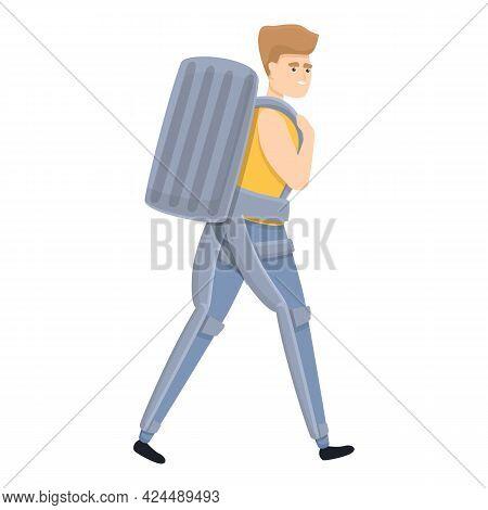 Flexible Exoskeleton Icon. Cartoon Of Flexible Exoskeleton Vector Icon For Web Design Isolated On Wh