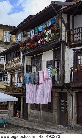 Guimaraes (portugal), June 20, 2021. Typical House. Guimarães Is A Municipality Located In Northern