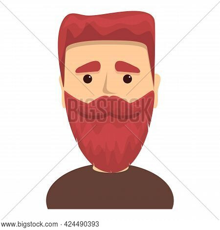 Guy With Thick Beard Icon. Cartoon Of Guy With Thick Beard Vector Icon For Web Design Isolated On Wh