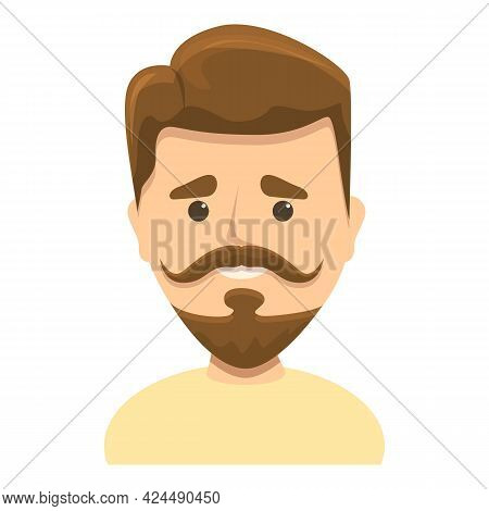 Trending Beard Icon. Cartoon Of Trending Beard Vector Icon For Web Design Isolated On White Backgrou