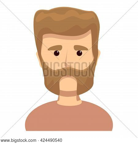 Bearded Middle Aged Man Icon. Cartoon Of Bearded Middle Aged Man Vector Icon For Web Design Isolated