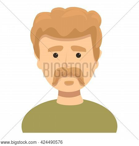 Man With Short Mustache Icon. Cartoon Of Man With Short Mustache Vector Icon For Web Design Isolated