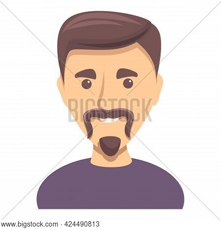 Man With Small Beard Icon. Cartoon Of Man With Small Beard Vector Icon For Web Design Isolated On Wh