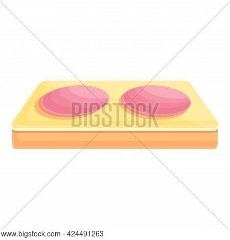 Korean Blush Icon. Cartoon Of Korean Blush Vector Icon For Web Design Isolated On White Background