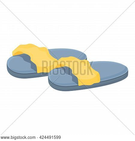 Fashionable Women Slippers Icon. Cartoon Of Fashionable Women Slippers Vector Icon For Web Design Is