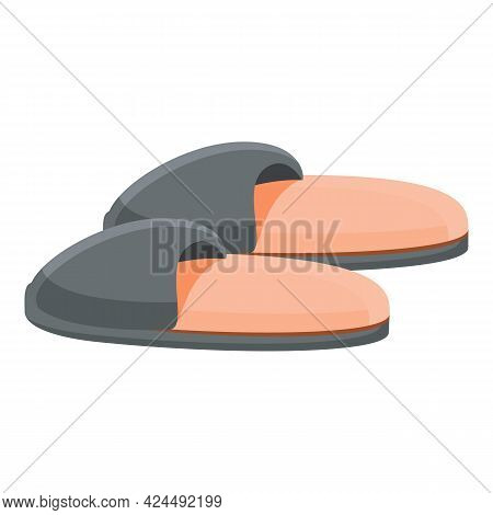 Cheap Slippers Icon. Cartoon Of Cheap Slippers Vector Icon For Web Design Isolated On White Backgrou