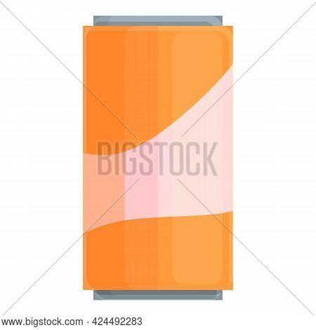 Orange Soda Icon. Cartoon Of Orange Soda Vector Icon For Web Design Isolated On White Background