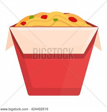 Takeaway Chinese Noodles Icon. Cartoon Of Takeaway Chinese Noodles Vector Icon For Web Design Isolat