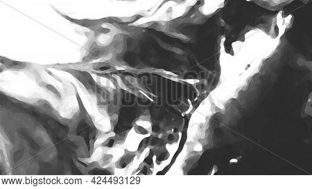 Black And White, Gray Abstract Picture, Background And Texture. Decorative Beautiful Screensaver.
