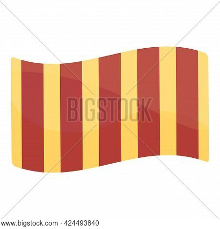 Beach Towel Icon. Cartoon Of Beach Towel Vector Icon For Web Design Isolated On White Background