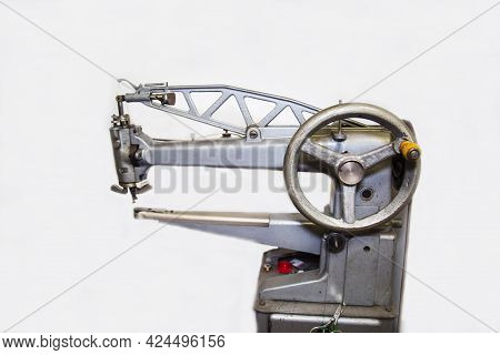 Sleeve Electric Shoe Repair Machine Isolated On White Background. Technologies Public Service Busine