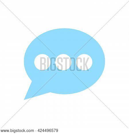 Bubble Speech Cloud Vector Communication Icon Comic Message. Cartoon Illustration Speech Cloud Talk