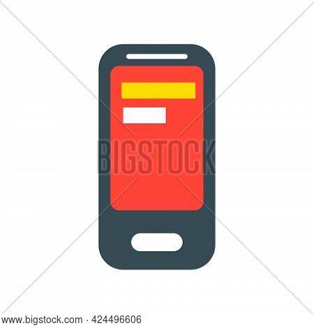 Mobile Phone Vector Technology Screen Device Illustration. Smartphone Mobile Gadget Communication. M
