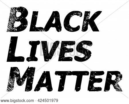 Black Lives Matter V3 Icon With Scratched Style. Isolated Raster Black Lives Matter V3 Icon Image Wi