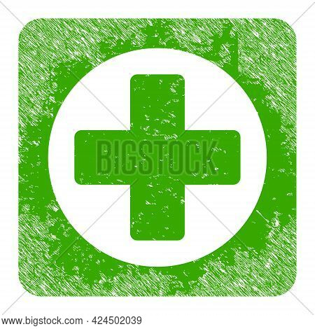 Create Icon With Grunge Effect. Isolated Raster Create Icon Image With Scratched Rubber Texture On A