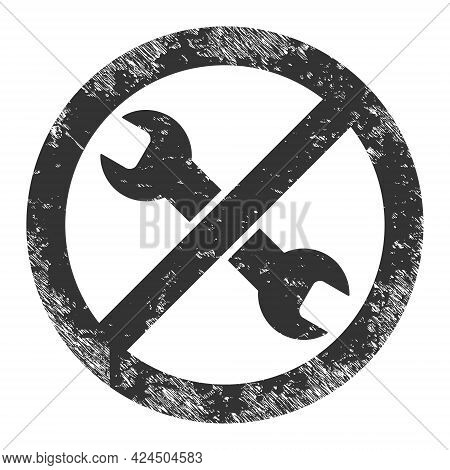 Avoid Repair Icon With Grunge Effect. Isolated Vector Avoid Repair Icon Image With Grunge Rubber Tex