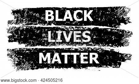 Black Lives Matter Icon With Scratched Style. Isolated Vector Black Lives Matter Icon Image With Cor