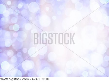 Violet Beige White Lilac Background With Bokeh Effect, Blur And Gradient. Colorful Blurred Texture.