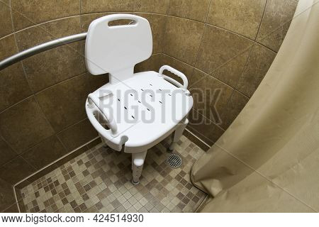 Shower Seat Used To Keep Elderly Safe