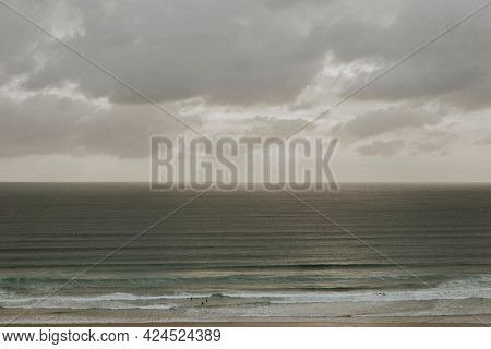 Cloudy sky over the calm sea