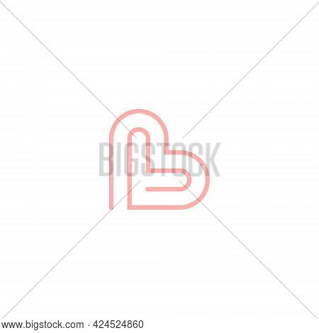 Vector, Illustrations. Letter L With Love Shape Logo.