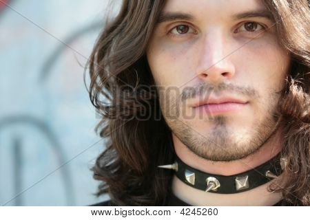 Portrait Of The Young Man In Gothic Style