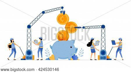 Vector Design Of Improvement Of Banking Financial Infrastructure To Make Customers Easier To Save An