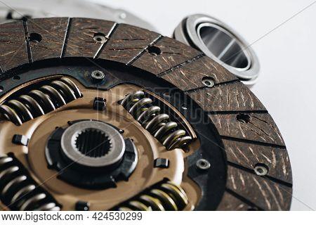 Automotive Clutch Disc, Auto Parts, Close Up.