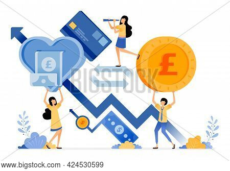 Vector Design Of Increase In Financial Investment And Spending For Healthy Economic Growth. Money Eq