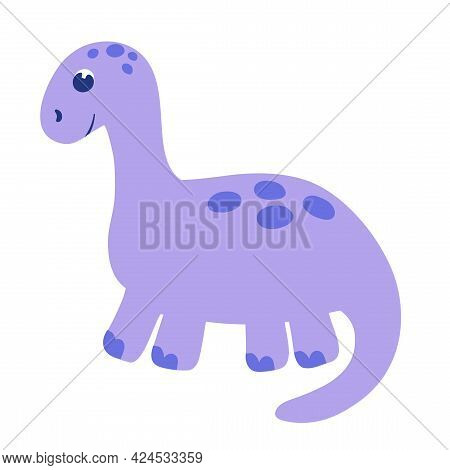 Cute Little Baby Dinosaur. The Vector Illustration Is Isolated On A White Background. Dinosaur Icon