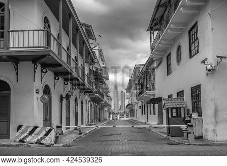 Small Street In The Old Town Of Panama City, Panama